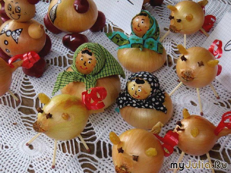 Поделки из лука для детского сада своими руками