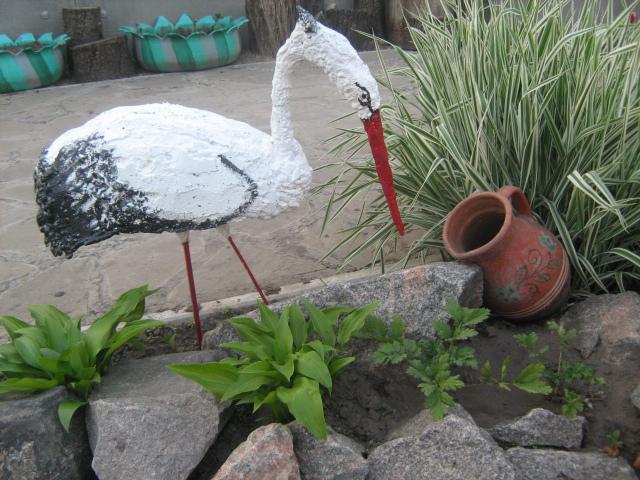 Цапля для сада своими руками фото