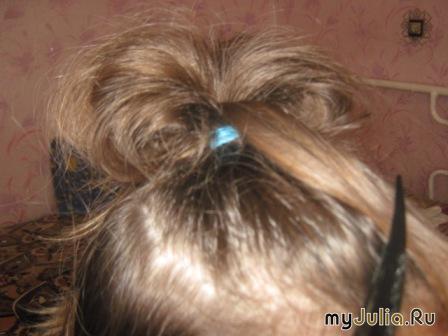 Бант из волос.  Пошаговая инструкция + фото.