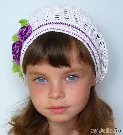Выкройка детской летней шапочки