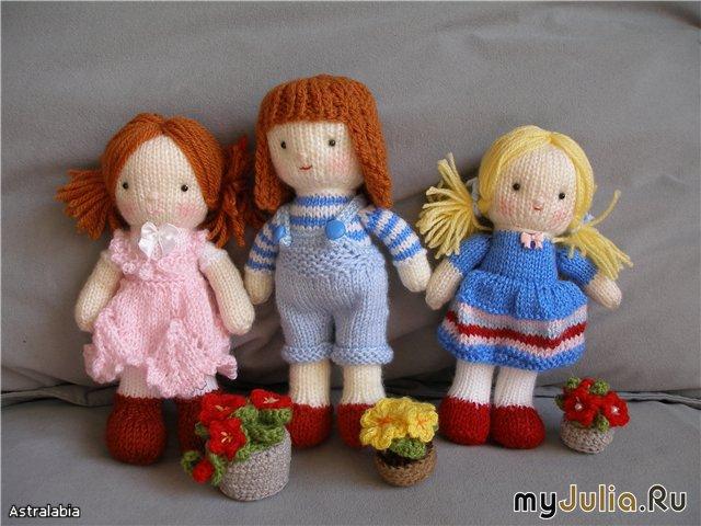 спицами Вязаная кукла