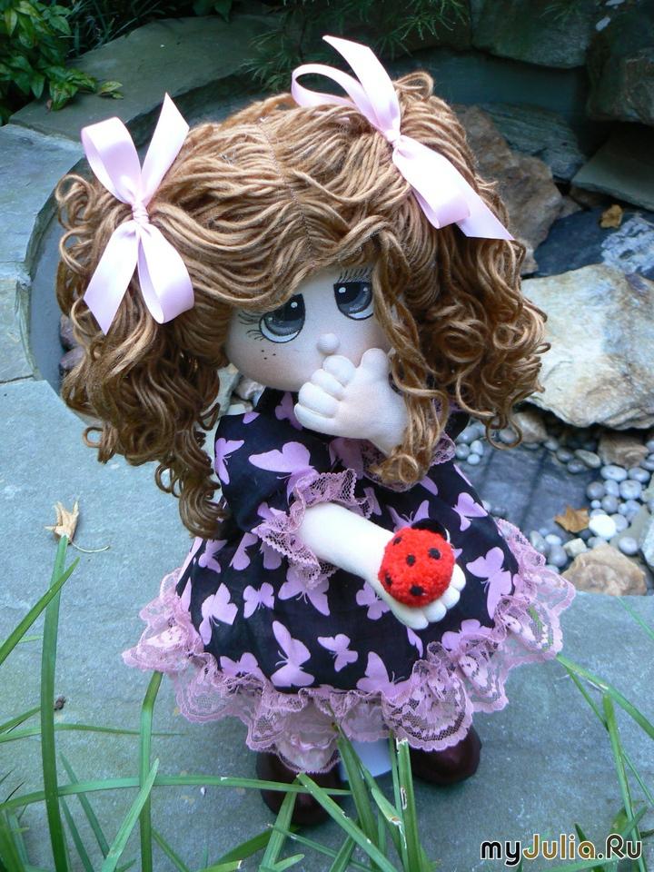 Цветы шебби Как сделать куклу на руку