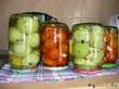 Зеленые маринованные помидорчики