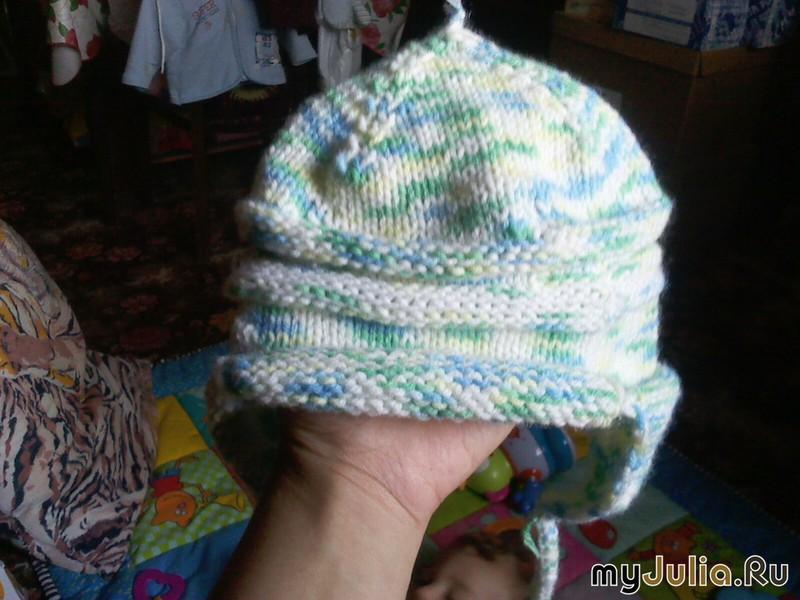 Вязание на спицах осенней шапочки