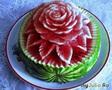 Цветок на арбузе