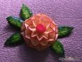 Цветок из яблока
