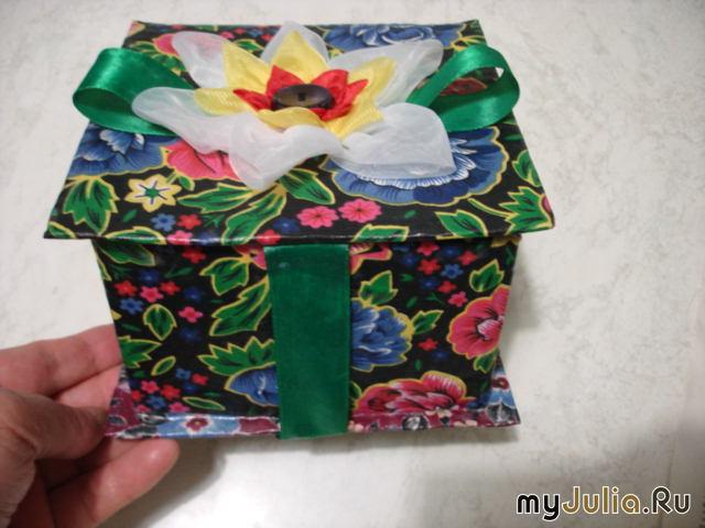 Шкатулки своими руками из картона и ткани мастер класс видео 25