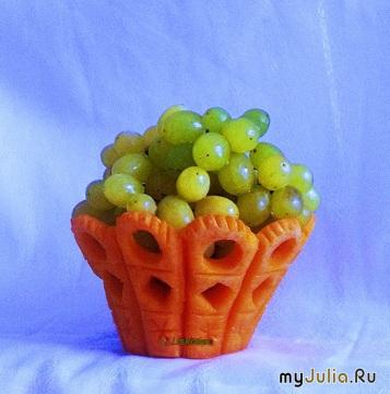 Вазочка для фруктов из тыквы