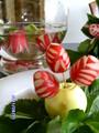 Цветы из редиса