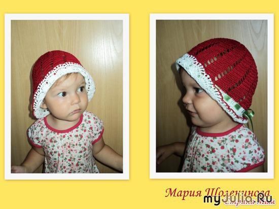 Летние шапочки для девочек крючком