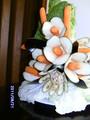Цветы из баклажан