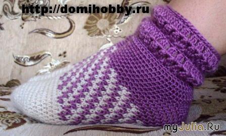 Вязаные носки для мужчин схема