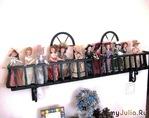 Коллекция кукол - на балконе :)