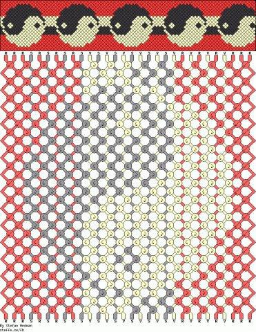 Представляем вам генератор схем фенечек косого плетения, пользуйтесь.