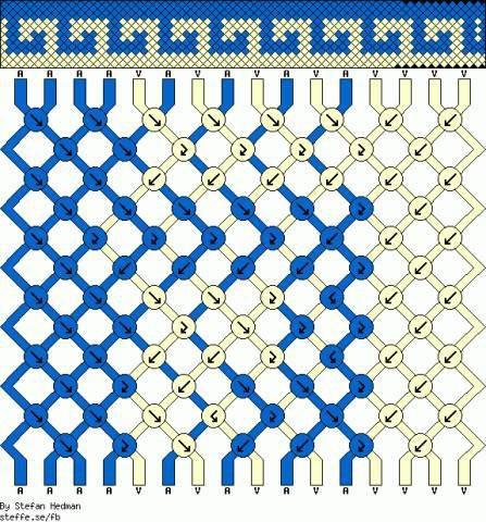Как составить схему для косого плетения