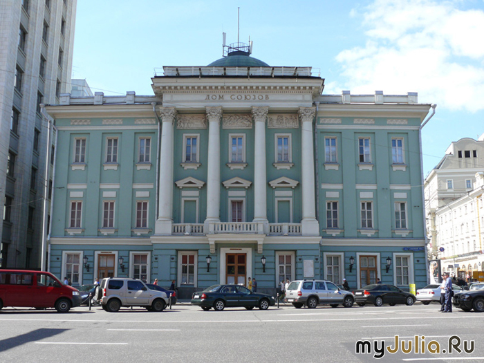 После 1917 года здание Благородного собрания было передано Московскому совету профессиональных союзов...