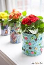 Вязаные ГОРШОЧКИ для цветов