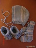 Чепчик,носочки и пинетки для новорожденного