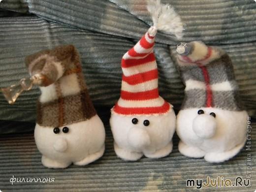 Как сделать снежки из ткани