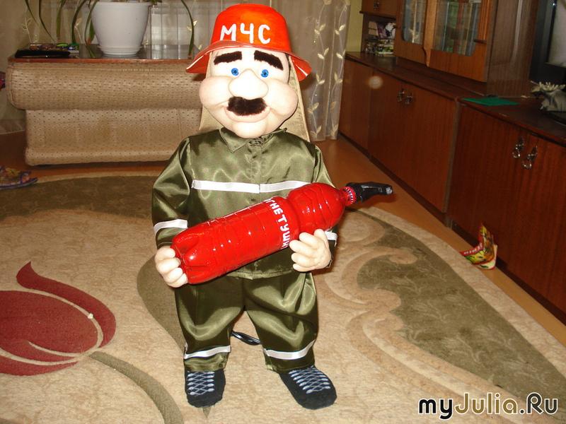 Пожарник своими руками мастер класс
