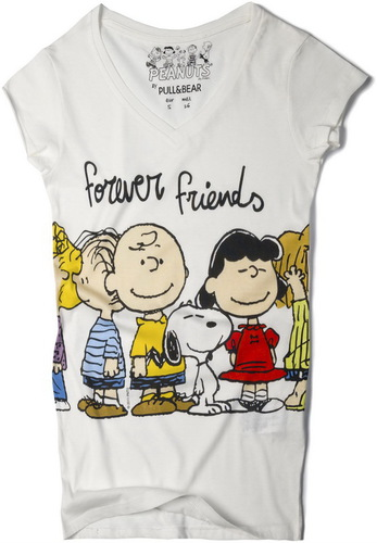 футболка Pull and bear - смешные человечки