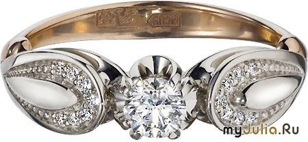 Кольцо с бриллиантами, арт.1942