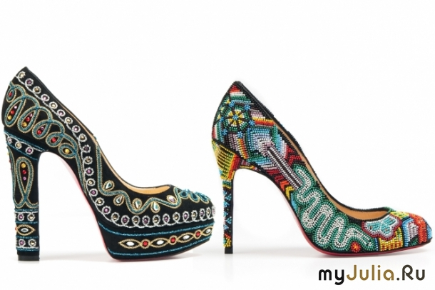 Вышивка бисером обуви