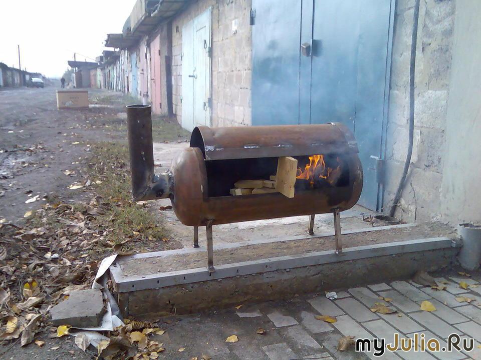 Мангалы и барбекю из газового баллона своими