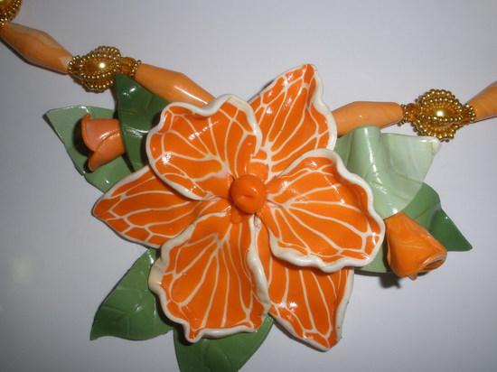 Бусы Орхидея