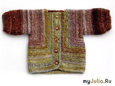 Зеленый свитер Элизабет Циммерманн: ru_knitting