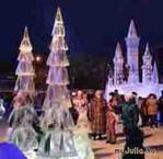 """Зимняя сказка """" ледяной городок в Перми 2012 год"""