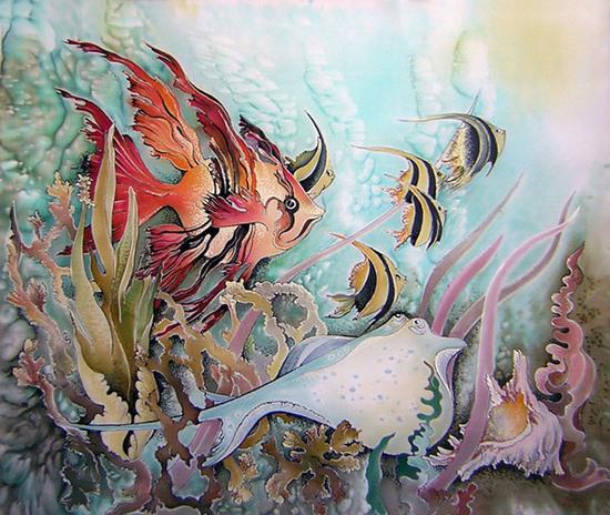 """Рхема вышивки Подводный мир"""""""
