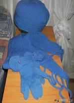 Шапка, шарф, перчатки от Норы Гаган
