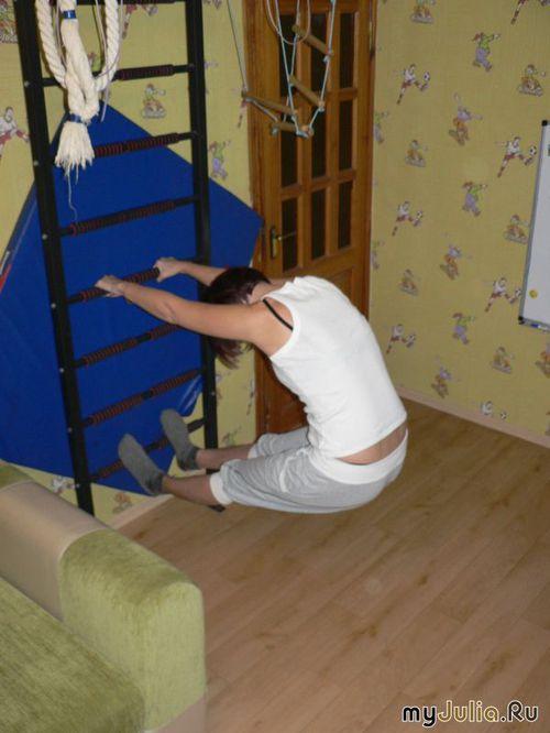 Трюки на шведской стенке