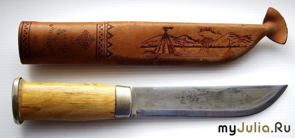 Маленький саамский нож имел короткий клинок, 9-10 см. В отличии от финского