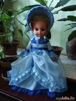 Платья для кукол. Дамы в голубом.