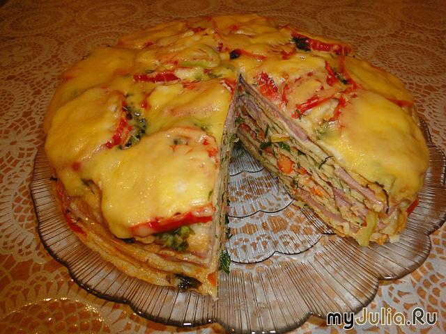 Бутербродные торты фото рецепт