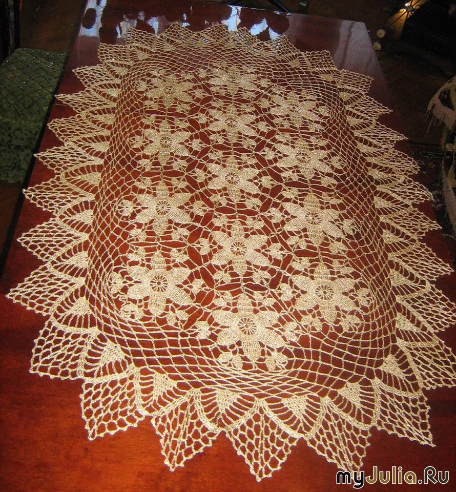 Вязание салфеток на стол 216