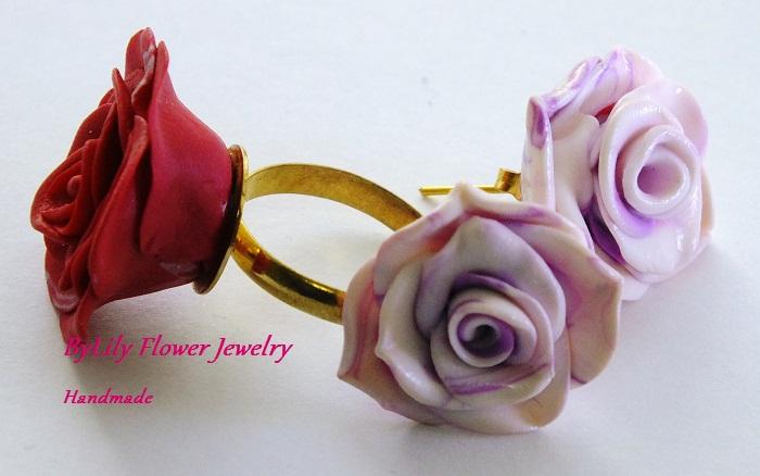 Как сделать кольцо роза 172