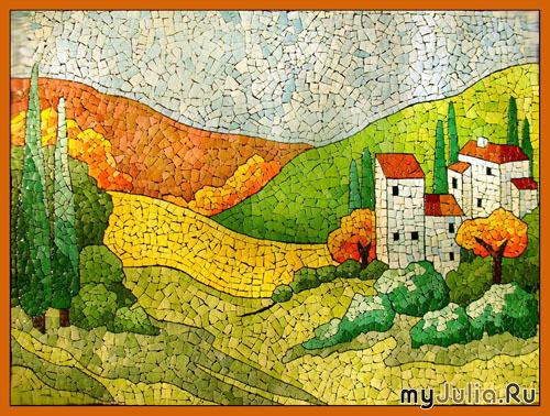 Мозаика из яичной скорлупы еще