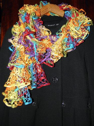 ШАРФяная радуга (из пряжи Фламенко)