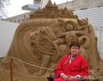 Фестиваль скульптур из песка в Анапе.