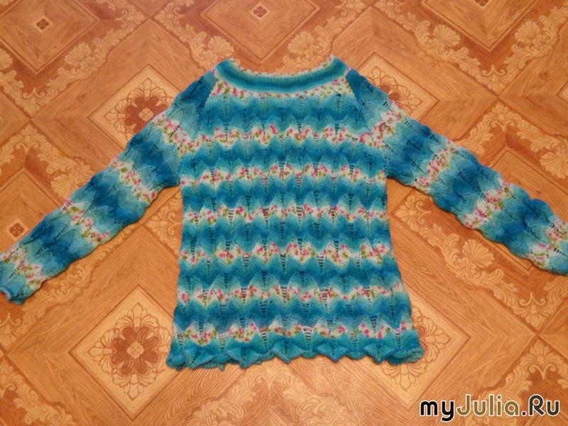 ажурный пуловер с рукавом реглан дневник группы вязание группы