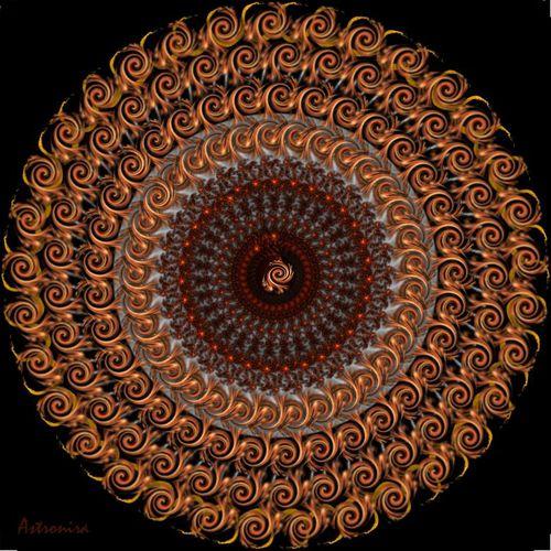 """Mandala """"Фрактальный след в бесконечность"""""""