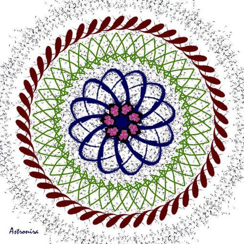 """Mandala """"Мир атома"""""""