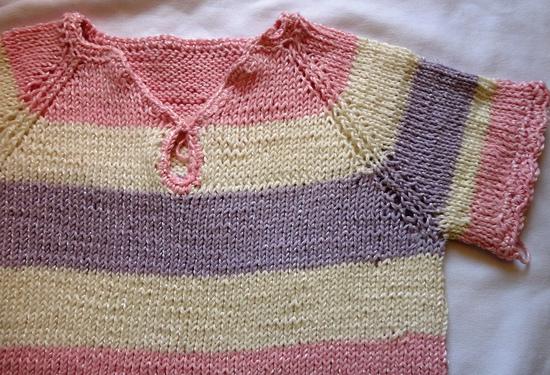 Он-лайн №22 или Вяжем детскую футболку спицами