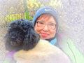 Портрет супруги с собакой