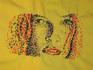 Авторская ручная вышивка нитками мулине на рубашках.
