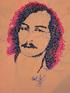 Автопортрет.Авторская ручная вышивка нитками мулине на рубашках.