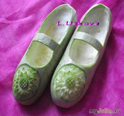 Поделки из овощей туфельки 26